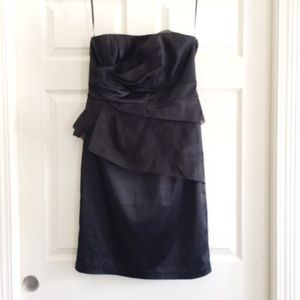 WHBM Black Strapless Cocktail Dress 12 A32